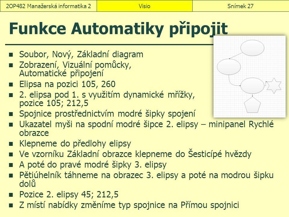 Funkce Automatiky připojit