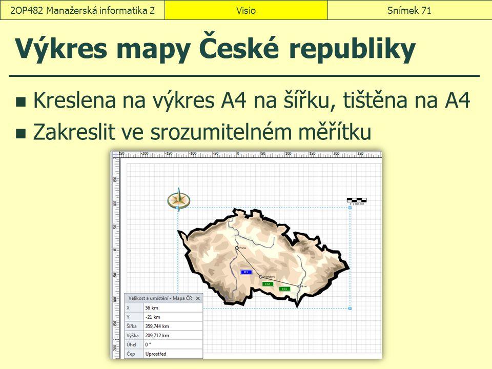 Výkres mapy České republiky