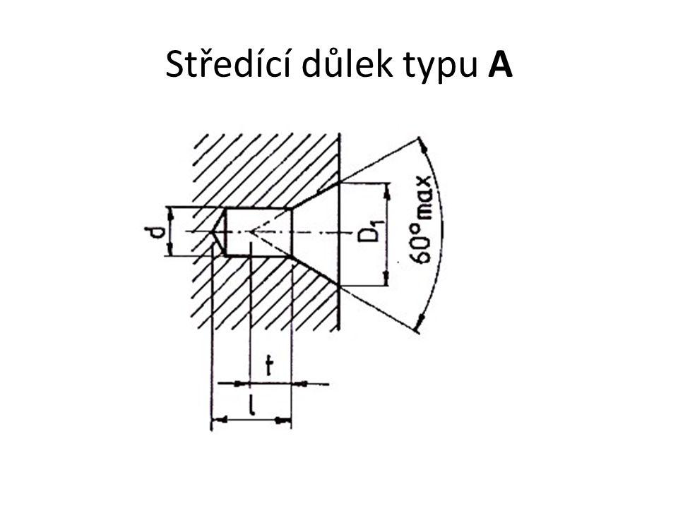 Středící důlek typu A