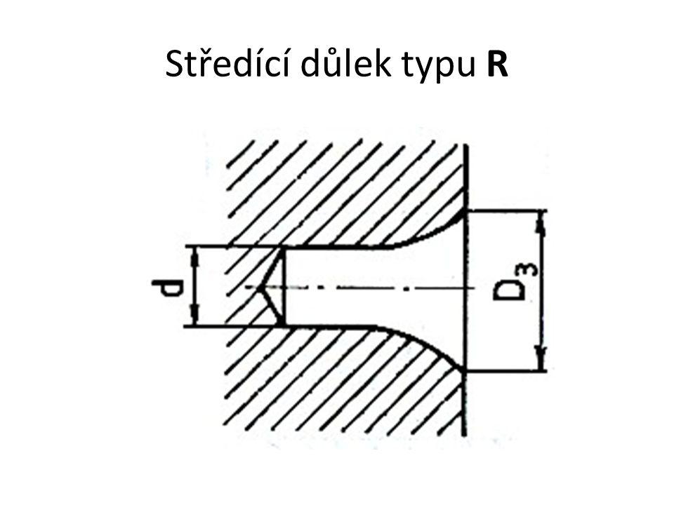 Středící důlek typu R