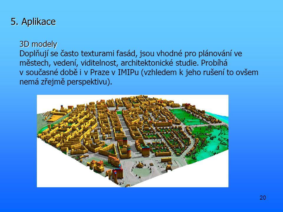 5. Aplikace 3D modely.