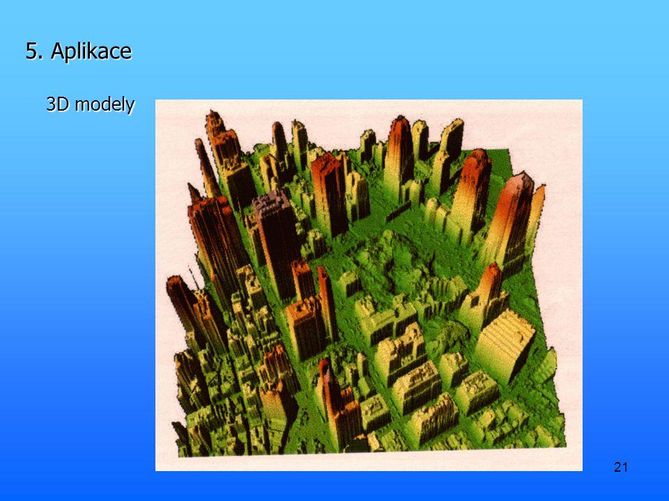 5. Aplikace 3D modely