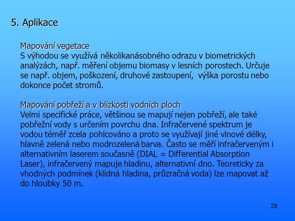 5. Aplikace Mapování vegetace