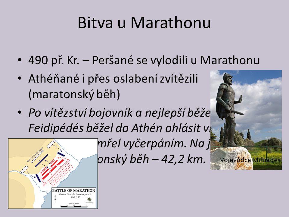 Bitva u Marathonu 490 př. Kr. – Peršané se vylodili u Marathonu