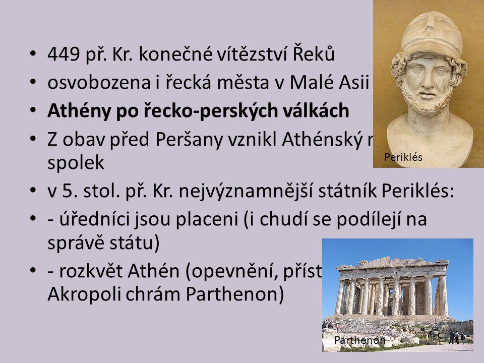 449 př. Kr. konečné vítězství Řeků