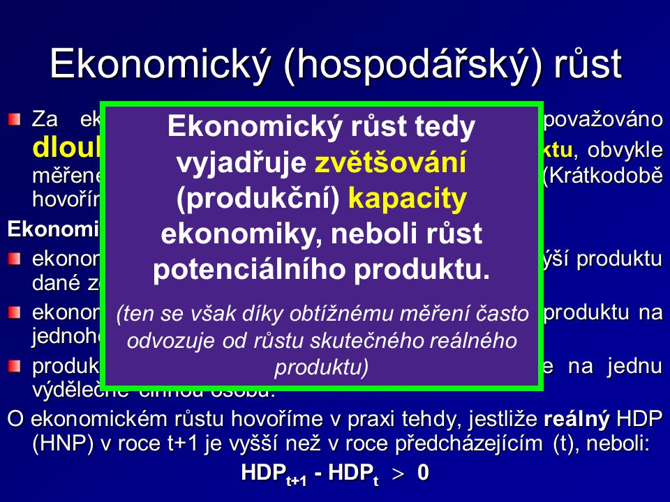 Ekonomický (hospodářský) růst