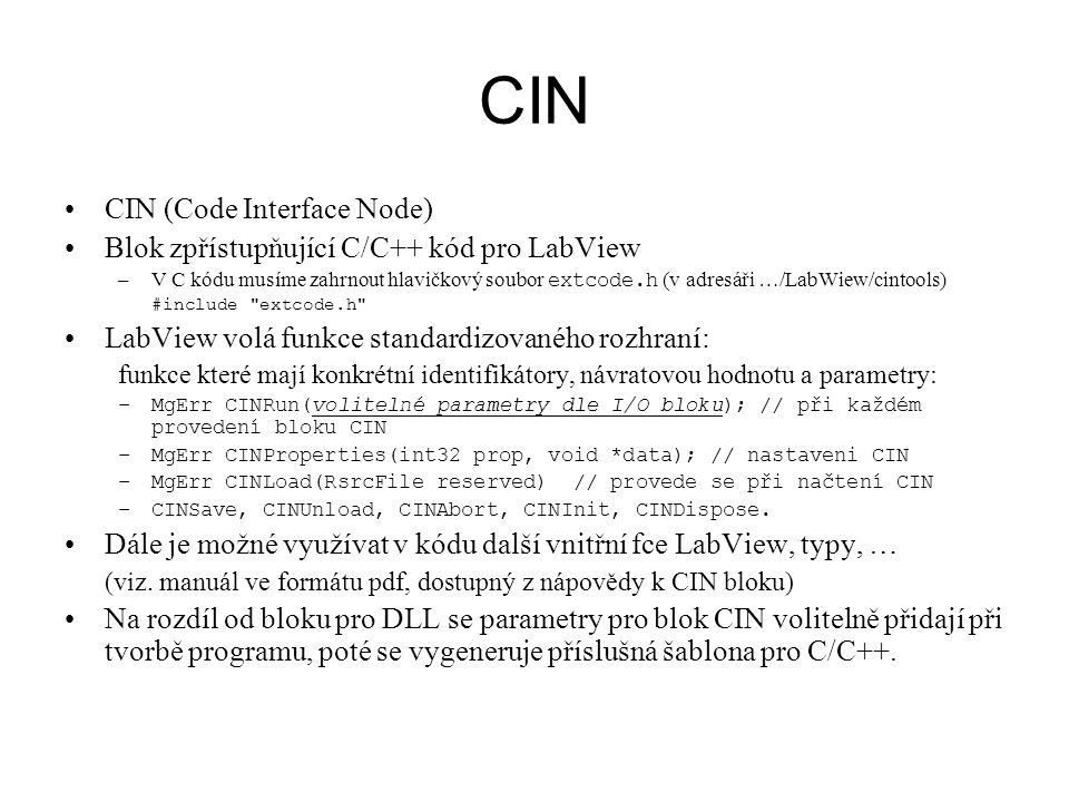 CIN CIN (Code Interface Node)