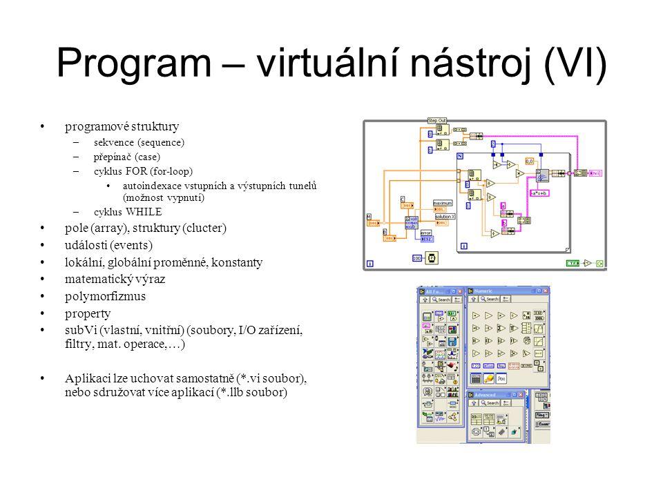 Program – virtuální nástroj (VI)