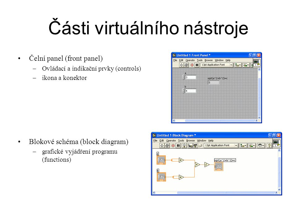 Části virtuálního nástroje