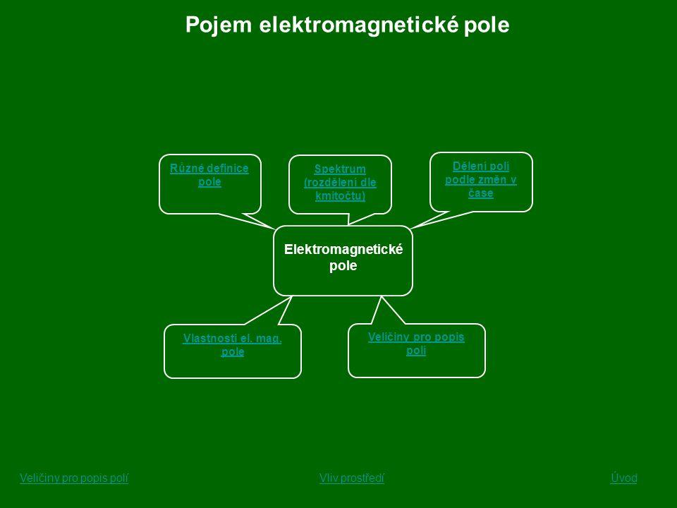 Pojem elektromagnetické pole