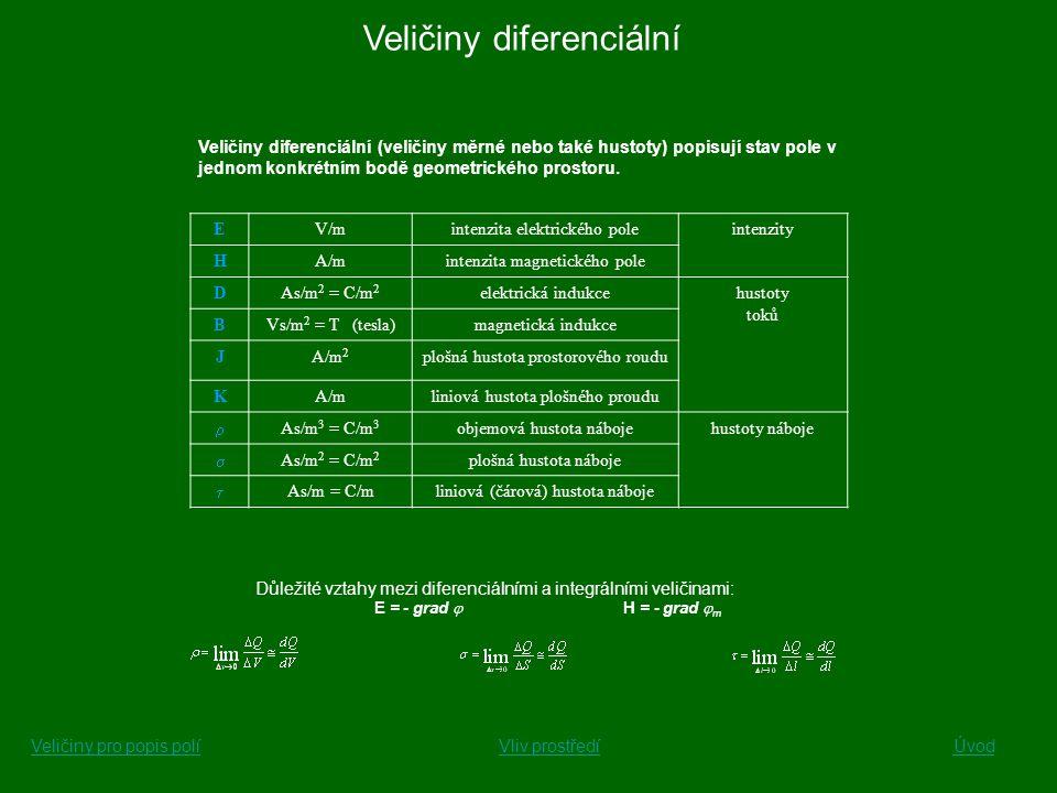 Veličiny diferenciální