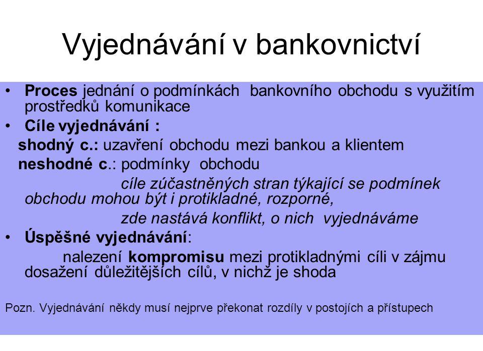 Vyjednávání v bankovnictví