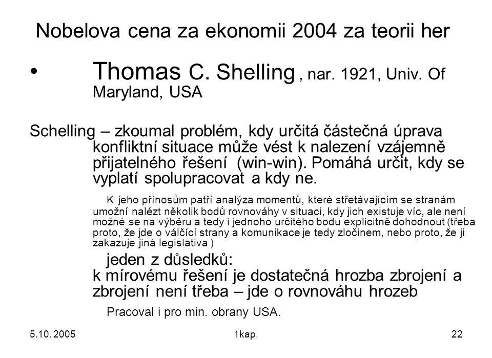 Nobelova cena za ekonomii 2004 za teorii her