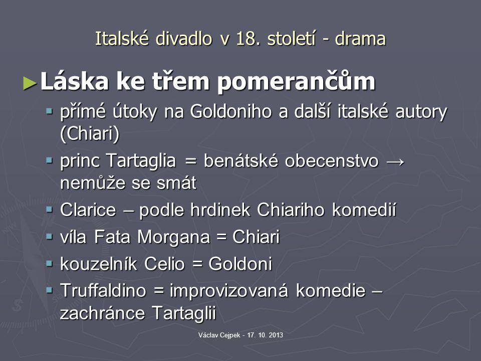 Italské divadlo v 18. století - drama