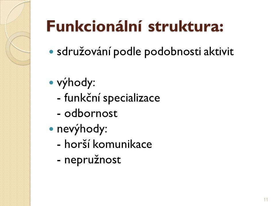 Funkcionální struktura: