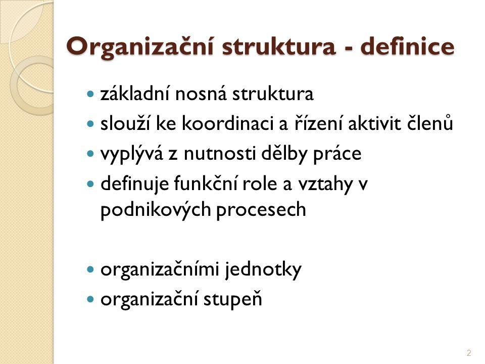 Organizační struktura - definice