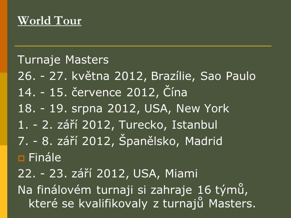 World Tour Turnaje Masters 26. - 27. května 2012, Brazílie, Sao Paulo