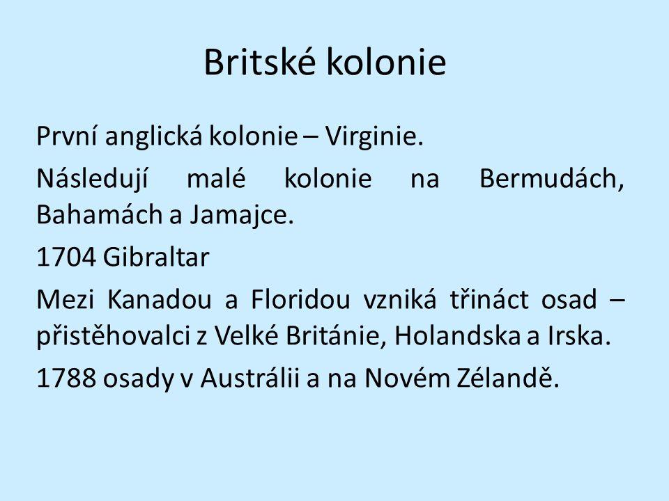 Britské kolonie