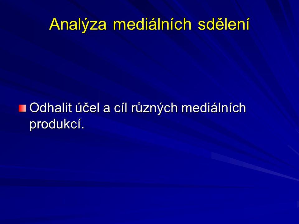 Analýza mediálních sdělení