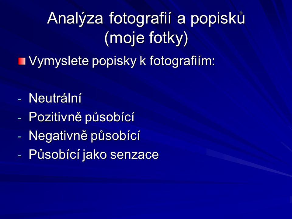 Analýza fotografií a popisků (moje fotky)