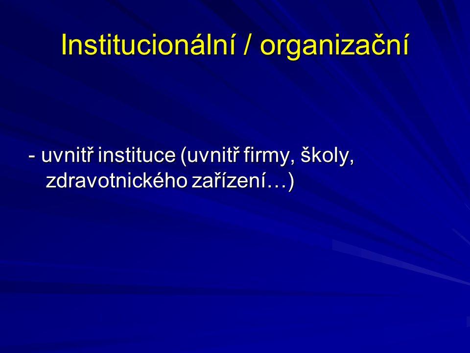 Institucionální / organizační