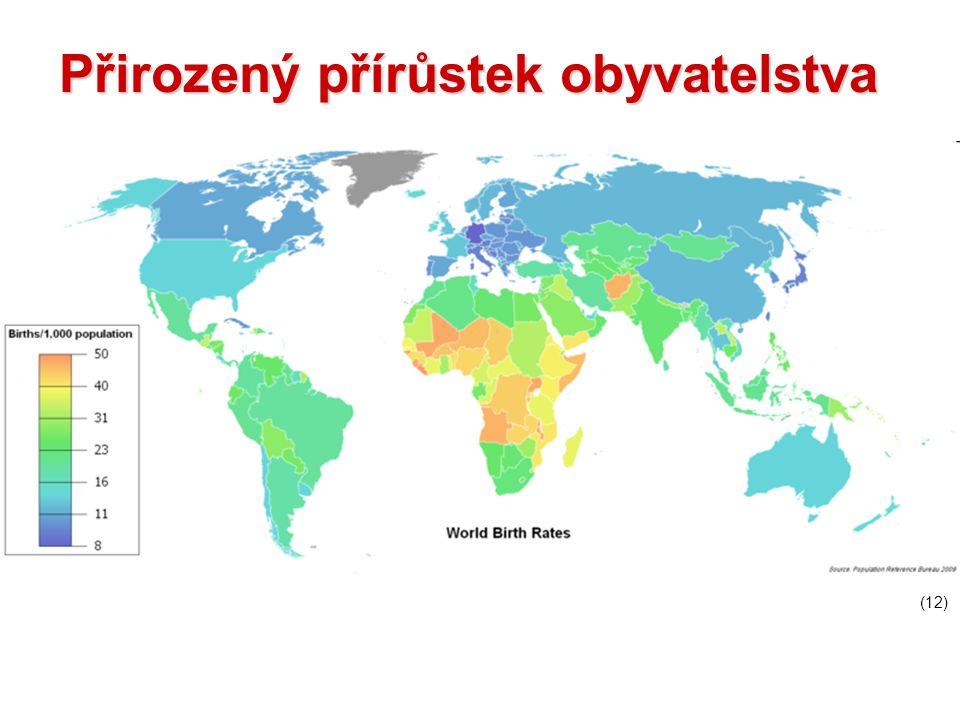 Přirozený přírůstek obyvatelstva