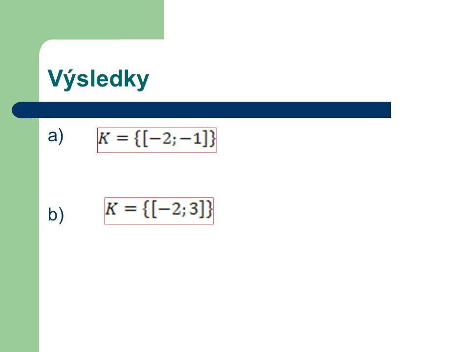 Výsledky a) b)