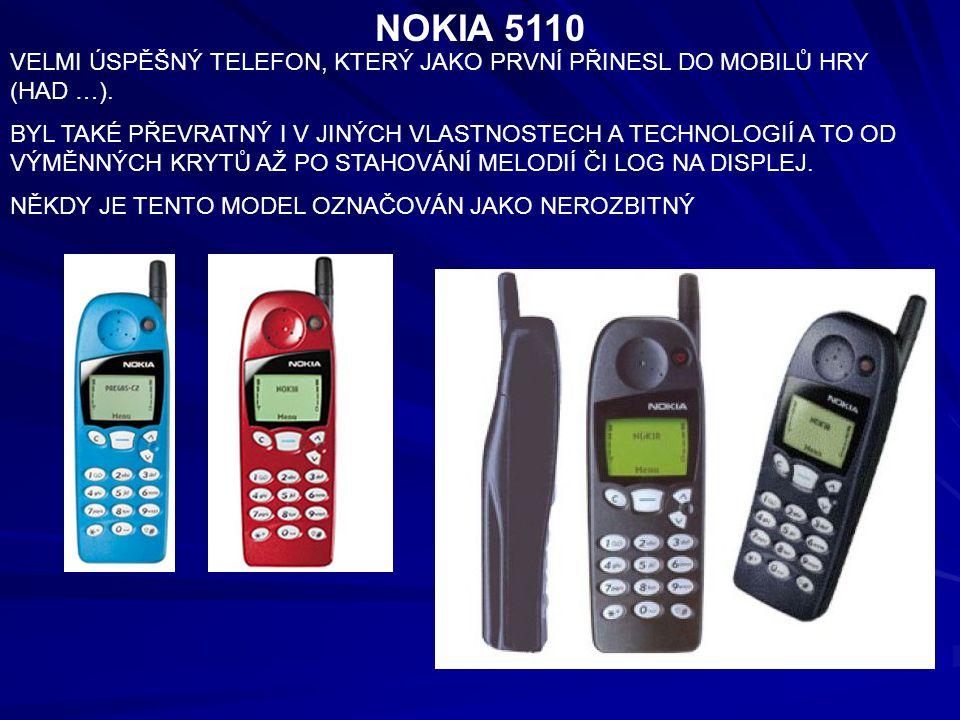 NOKIA 5110 VELMI ÚSPĚŠNÝ TELEFON, KTERÝ JAKO PRVNÍ PŘINESL DO MOBILŮ HRY (HAD …).
