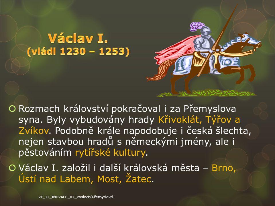 Václav I. (vládl 1230 – 1253)