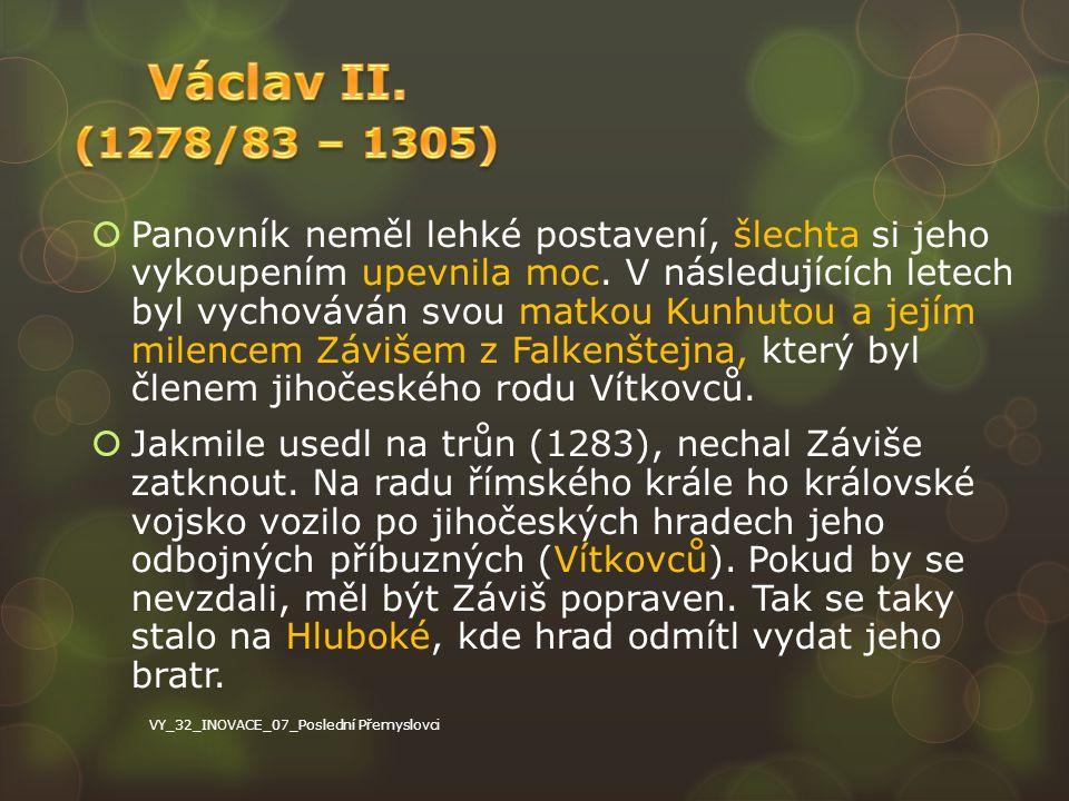 Václav II. (1278/83 – 1305)