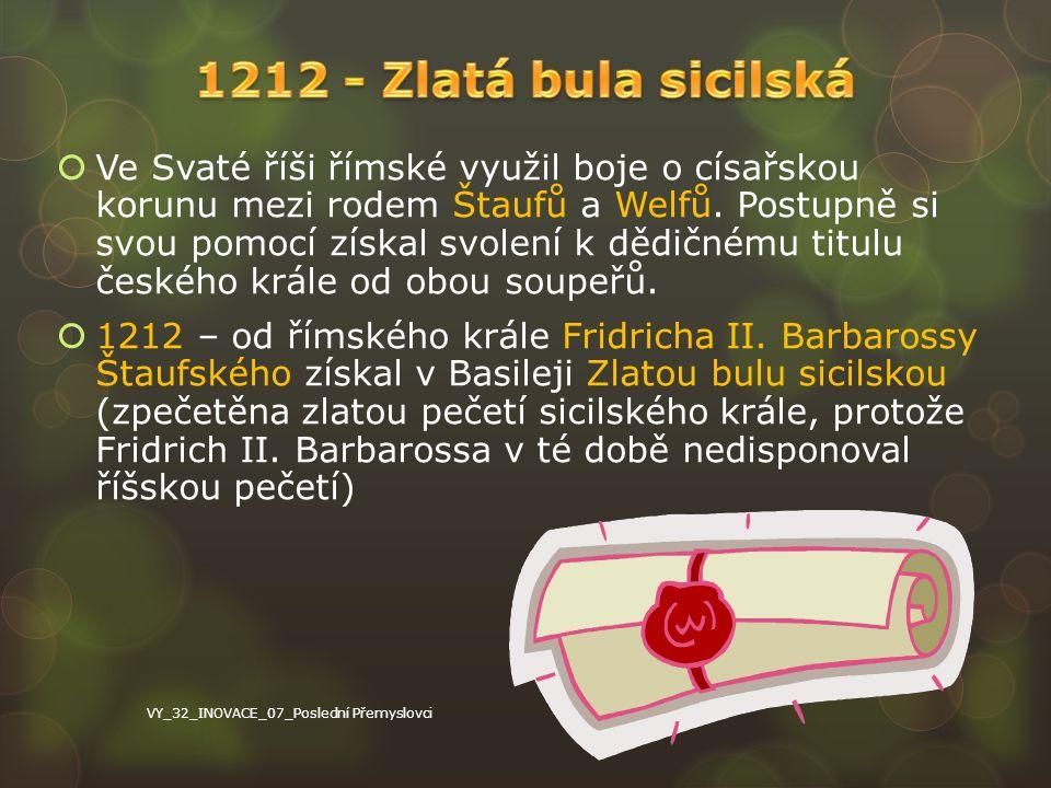 1212 - Zlatá bula sicilská
