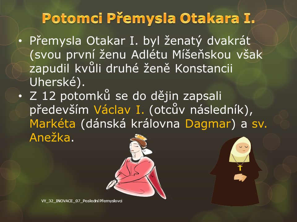 Potomci Přemysla Otakara I.
