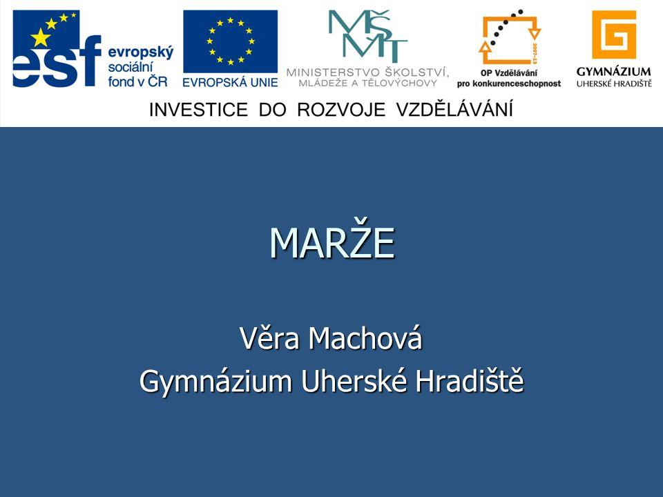 Věra Machová Gymnázium Uherské Hradiště
