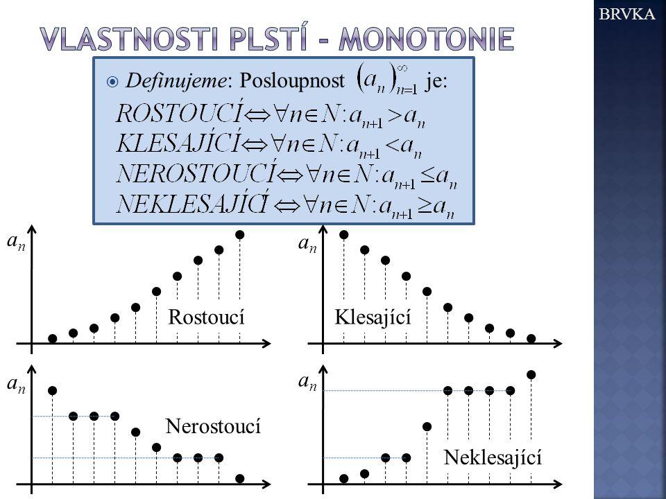 Vlastnosti plstí - monotonie