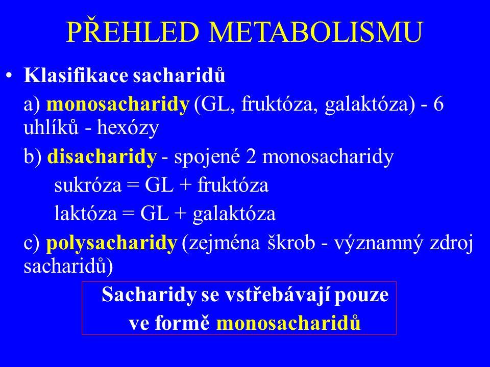 Sacharidy se vstřebávají pouze ve formě monosacharidů