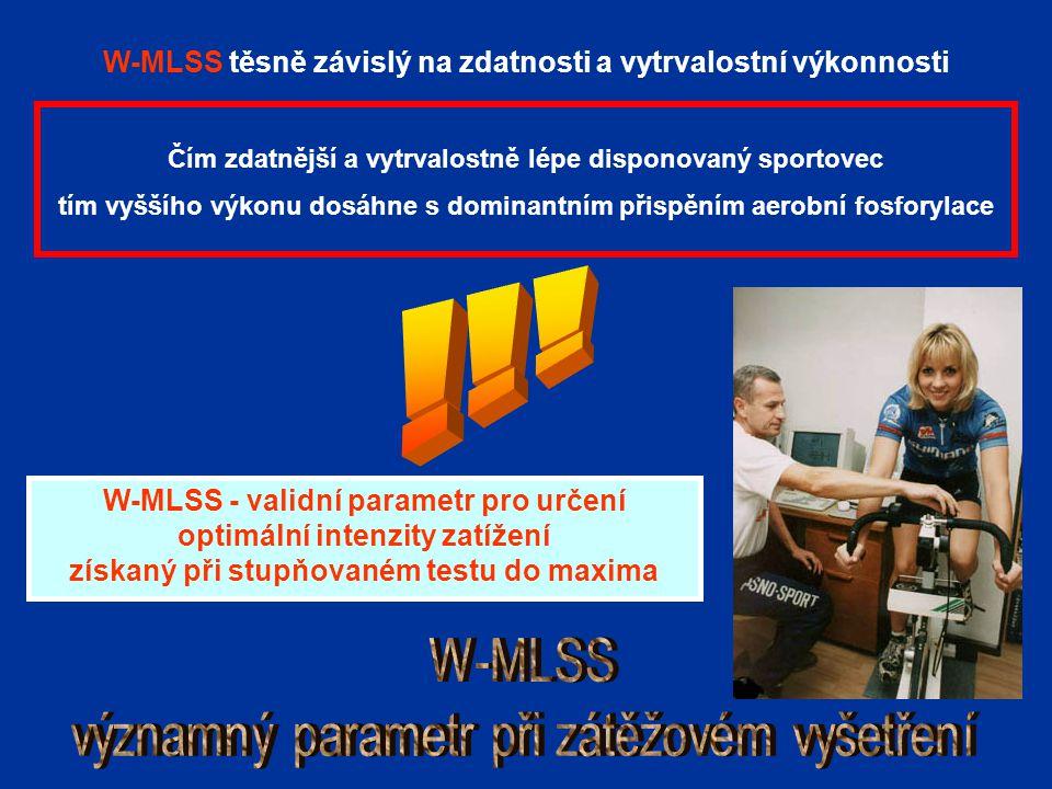 !!! W-MLSS významný parametr při zátěžovém vyšetření