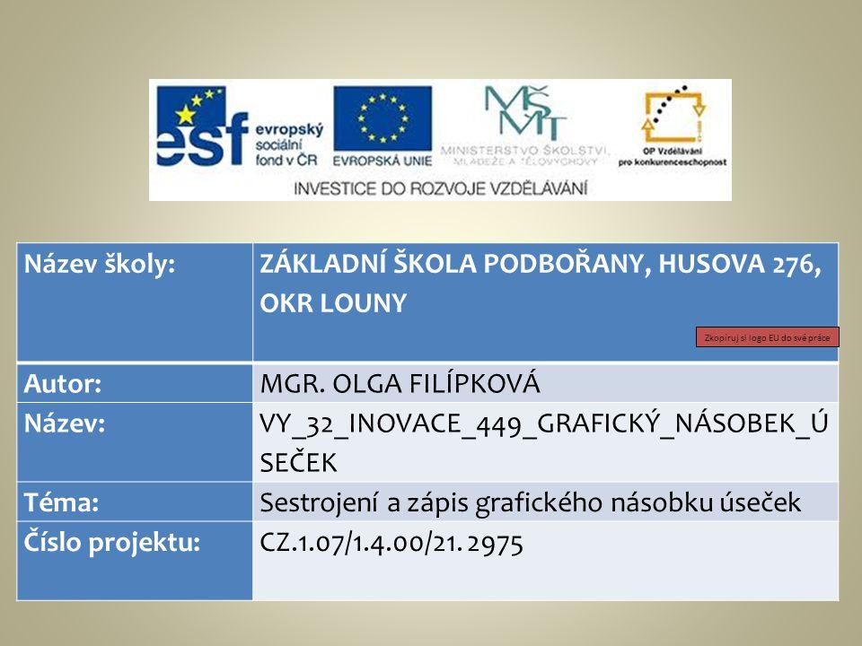 ZÁKLADNÍ ŠKOLA PODBOŘANY, HUSOVA 276, OKR LOUNY