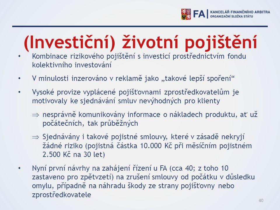 (Investiční) životní pojištění