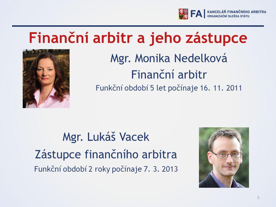 Finanční arbitr a jeho zástupce