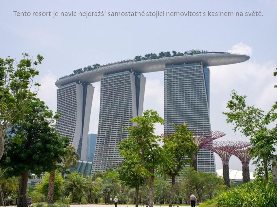 Tento resort je navíc nejdražší samostatně stojící nemovitost s kasinem na světě.