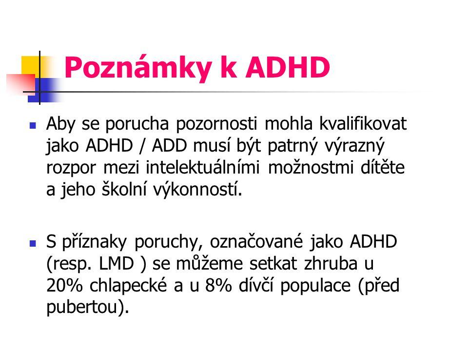 Poznámky k ADHD