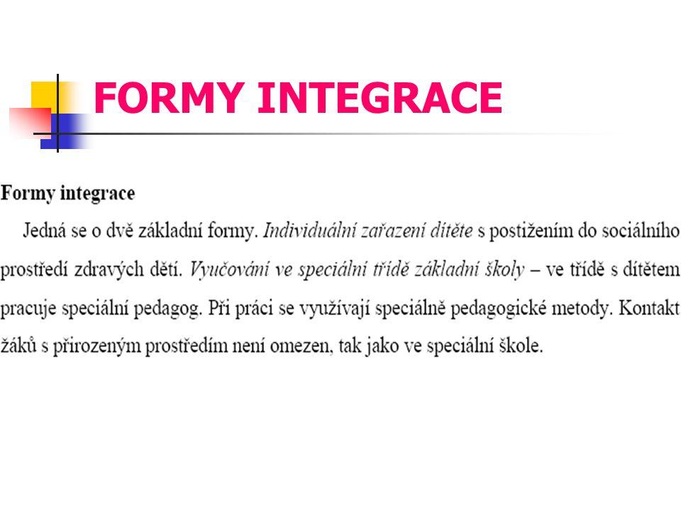 FORMY INTEGRACE
