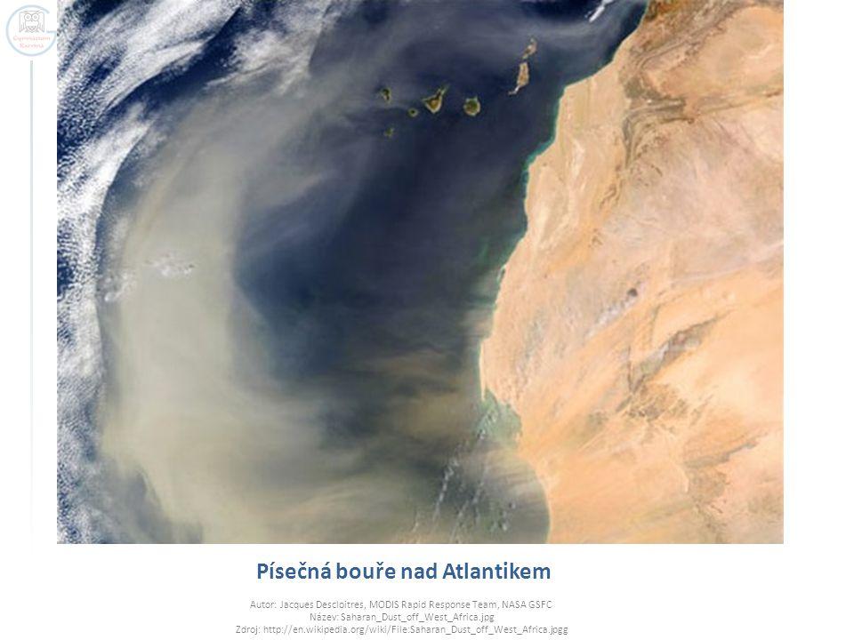 Písečná bouře nad Atlantikem