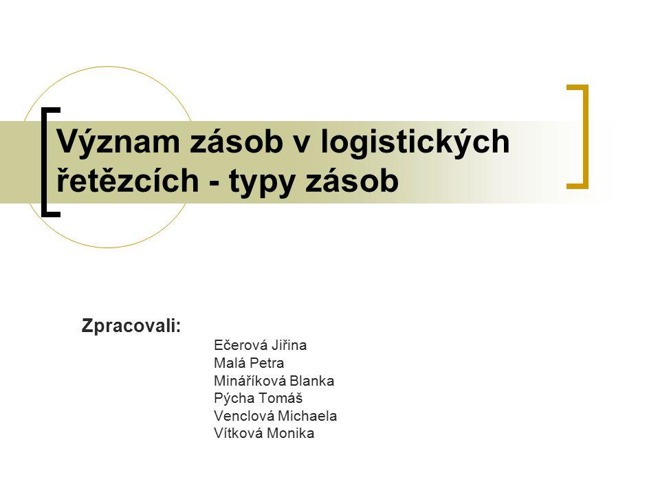 Význam zásob v logistických řetězcích - typy zásob