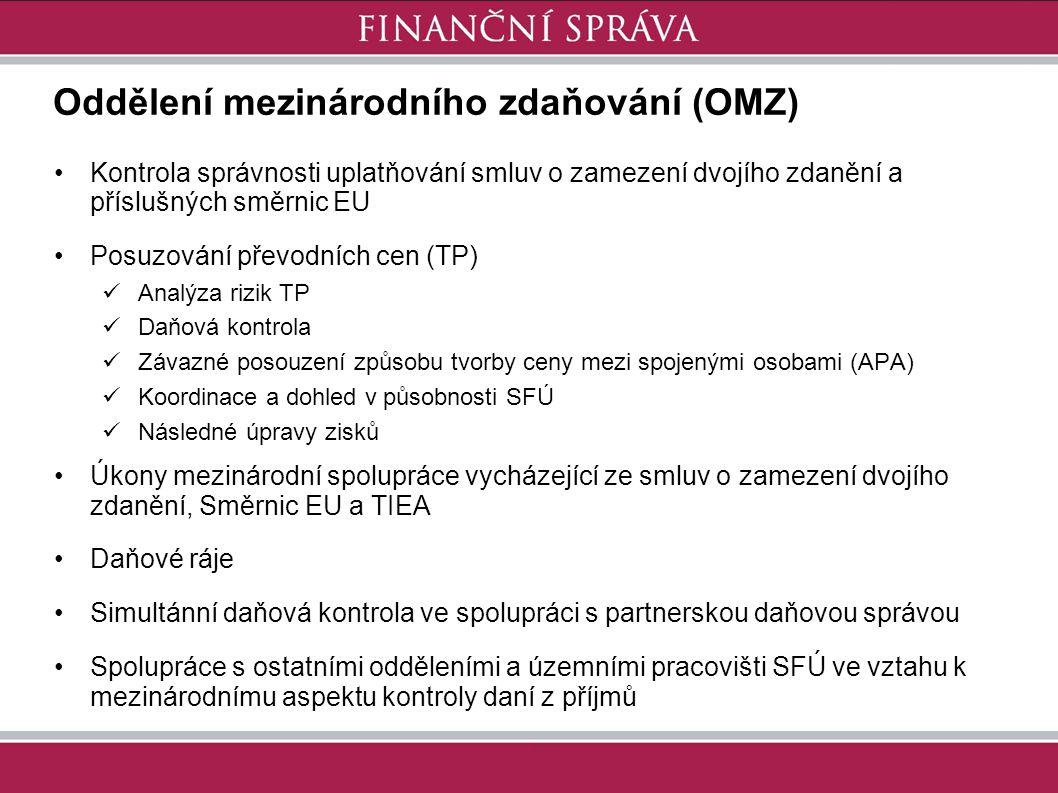 Oddělení mezinárodního zdaňování (OMZ)