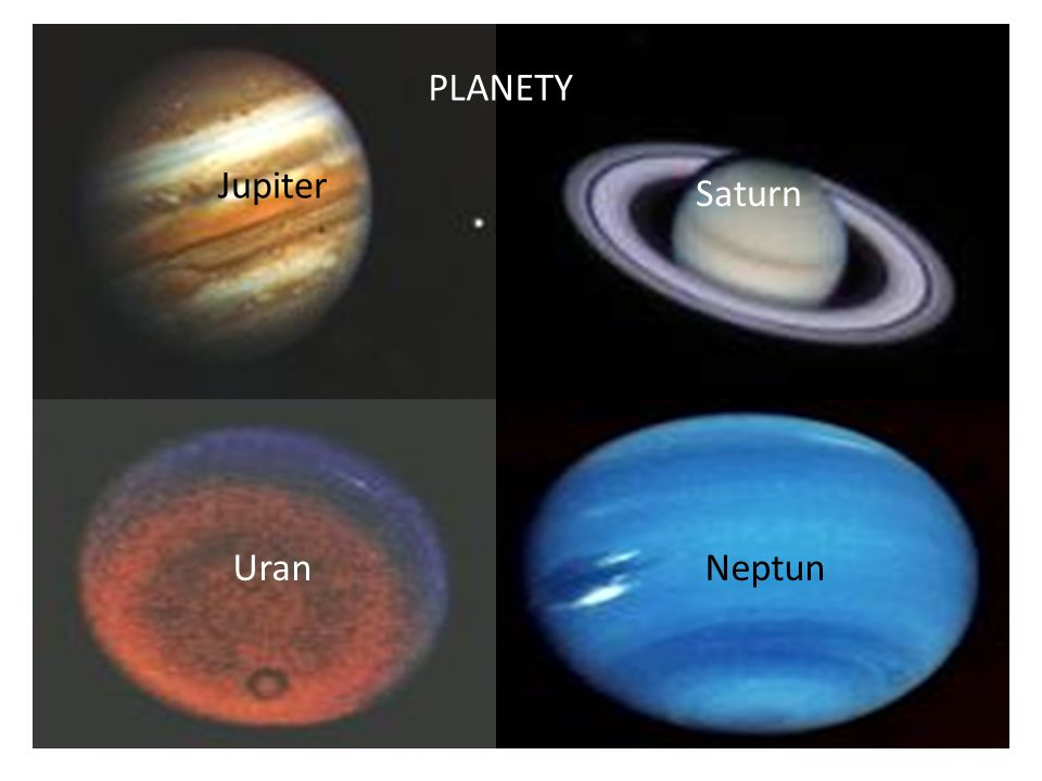 PLANETY Jupiter Saturn Uran Neptun