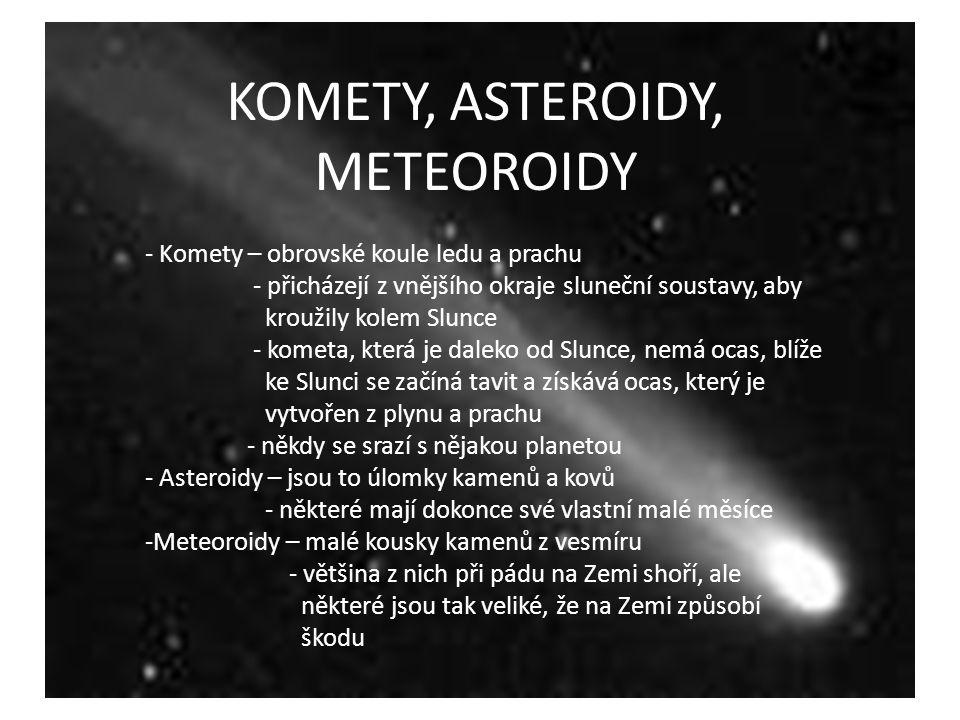 KOMETY, ASTEROIDY, METEOROIDY
