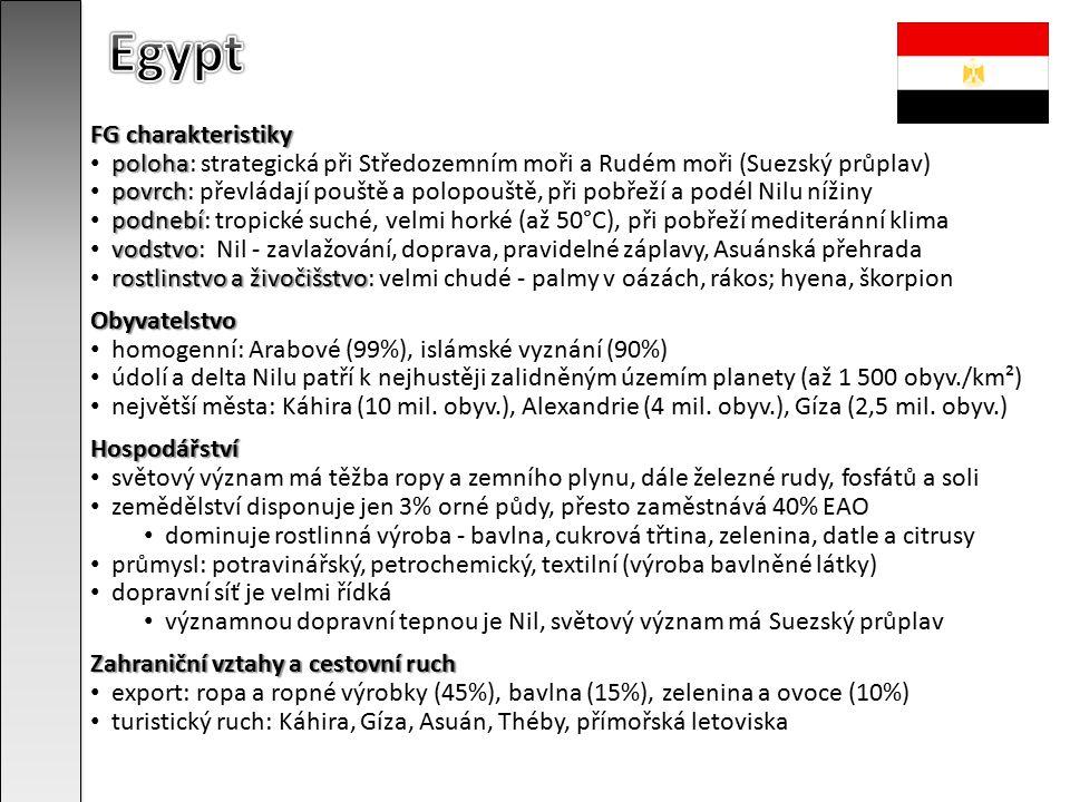 Egypt FG charakteristiky