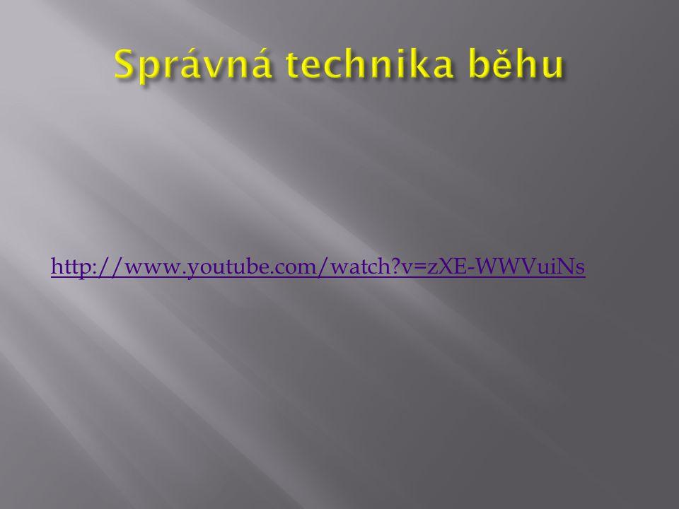 Správná technika běhu http://www.youtube.com/watch v=zXE-WWVuiNs