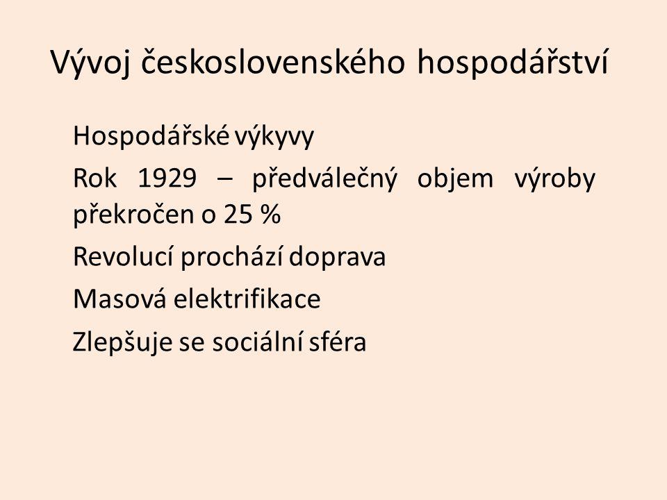 Vývoj československého hospodářství
